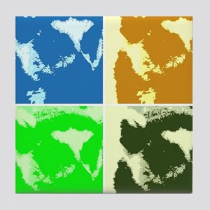 Lemur Pop Art Tile Coaster