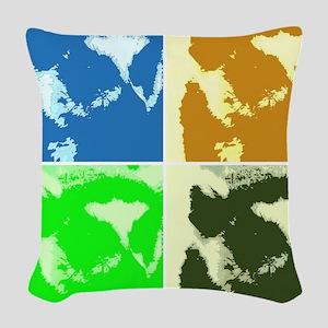 Lemur Pop Art Woven Throw Pillow