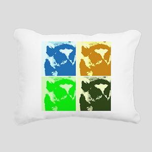 Lemur Pop Art Rectangular Canvas Pillow