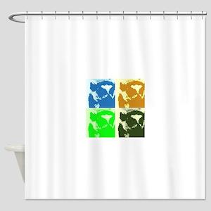 Lemur Pop Art Shower Curtain