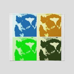 Lemur Pop Art Throw Blanket