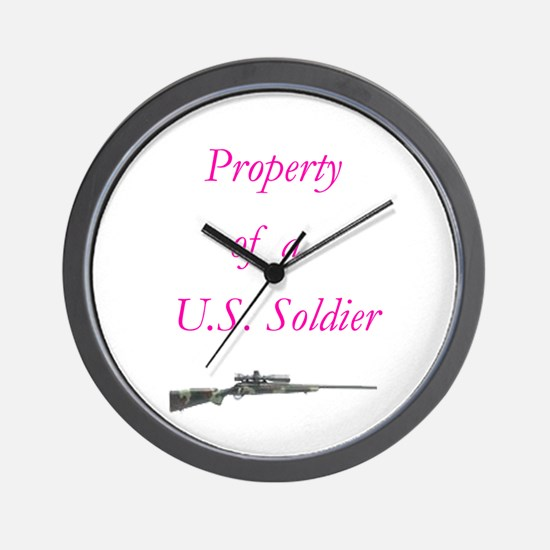 Cute Property of a us soldier Wall Clock