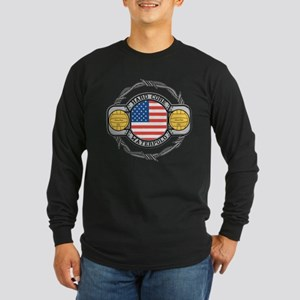 usa hard core water Long Sleeve Dark T-Shirt