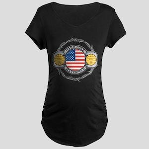 usa hard core water Maternity Dark T-Shirt