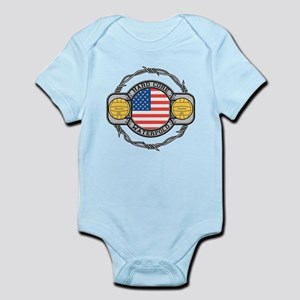 usa hard core water Infant Bodysuit