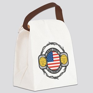 usa hard core water Canvas Lunch Bag