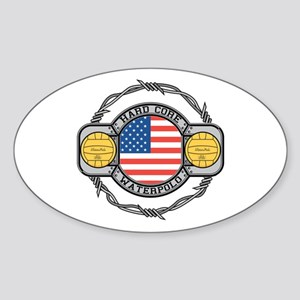 usa hard core water Sticker (Oval)