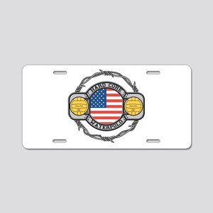usa hard core water Aluminum License Plate