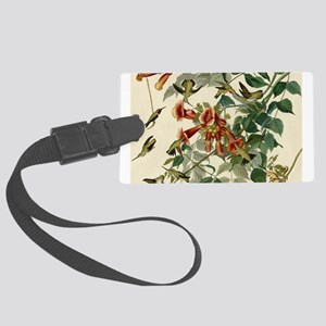 Audubon Ruby Throated Hummingbirds Luggage Tag