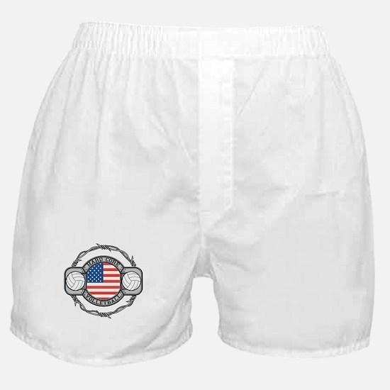 USA Hard Core Volleyball Boxer Shorts