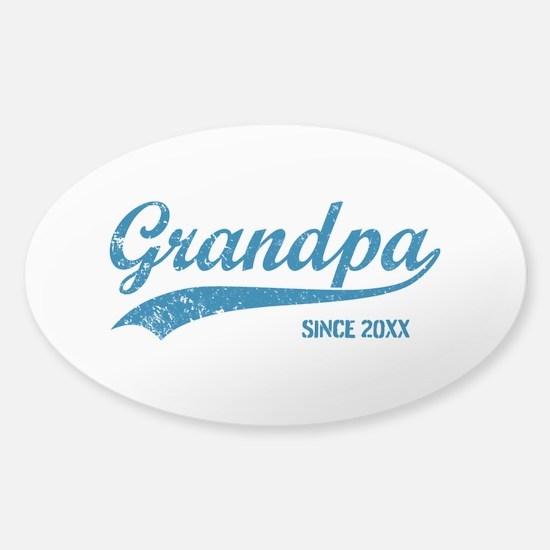 Personalize Grandpa Since Sticker (Oval)