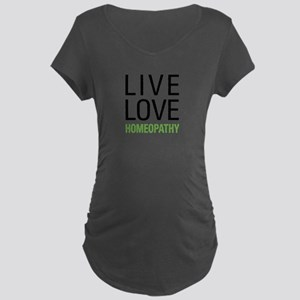 Live Love Homeopathy Maternity Dark T-Shirt
