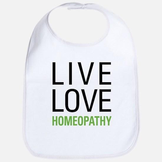 Live Love Homeopathy Bib