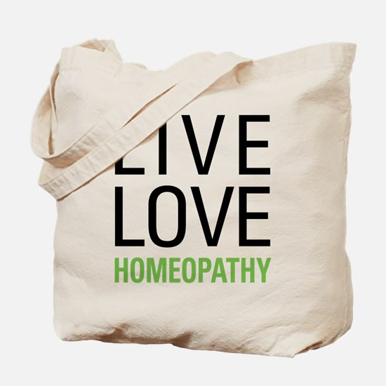 Live Love Homeopathy Tote Bag