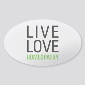 Live Love Homeopathy Sticker (Oval)
