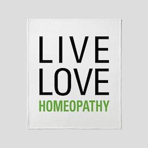 Live Love Homeopathy Throw Blanket