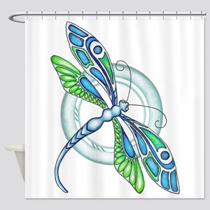 Decorative Dragonfly Shower Curtain