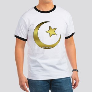 Gold Star and Crescent Ringer T