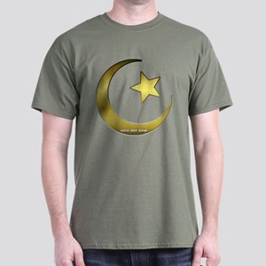 Gold Star and Crescent Dark T-Shirt