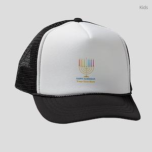 Happy Hanukkah Personalized Kids Trucker hat