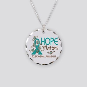 Scleroderma HopeMatters3 Necklace Circle Charm