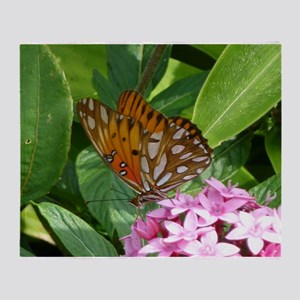 Passion Vine Butterfly Throw Blanket