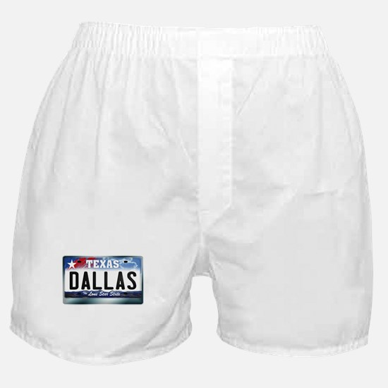 texas-licenseplate-dallas.png Boxer Shorts