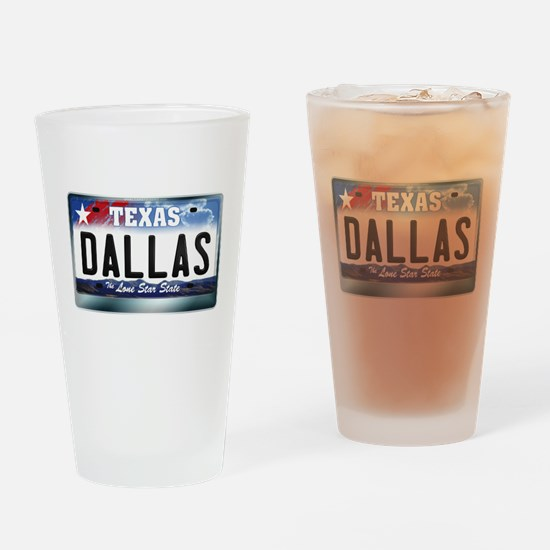 texas-licenseplate-dallas.png Drinking Glass
