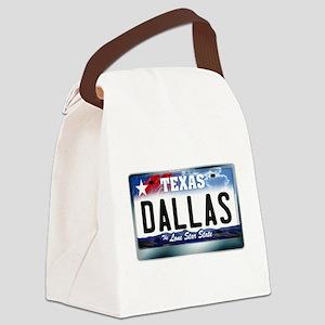 texas-licenseplate-dallas Canvas Lunch Bag