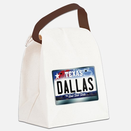 texas-licenseplate-dallas.png Canvas Lunch Bag
