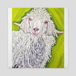 Angora Goat Farm Animal Art Queen Duvet