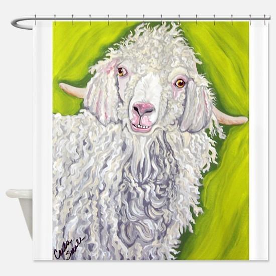 Angora Goat Farm Animal Art Shower Curtain