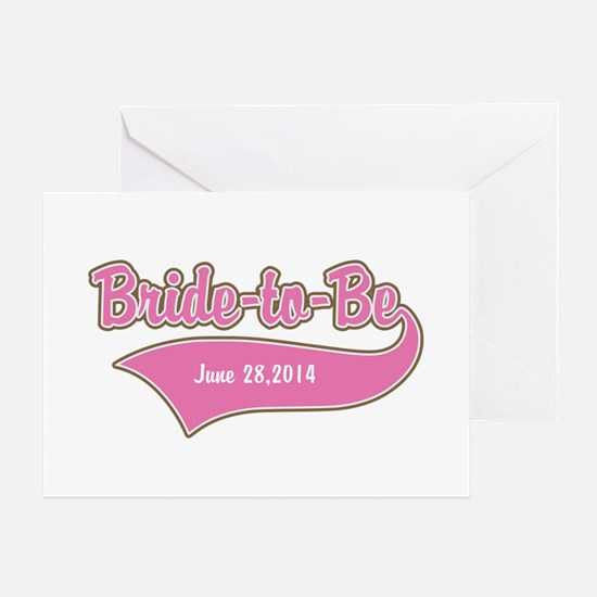 Bride-to-Be Custom Date Greeting Card
