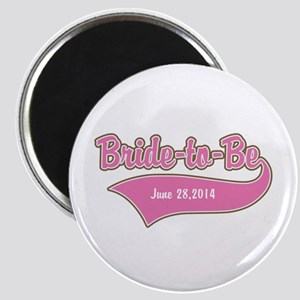 Bride-to-Be Custom Date Magnet