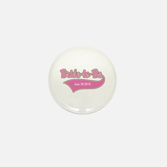 Bride-to-Be Custom Date Mini Button (10 pack)