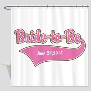 Bride-to-Be Custom Date Shower Curtain