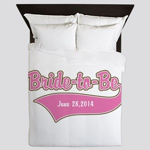 Bride-to-Be Custom Date Queen Duvet