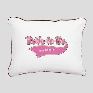 Bride-to-Be Custom Date Rectangular Canvas Pillow