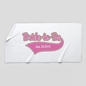 Bride-to-Be Custom Date Beach Towel