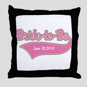 Bride-to-Be Custom Date Throw Pillow