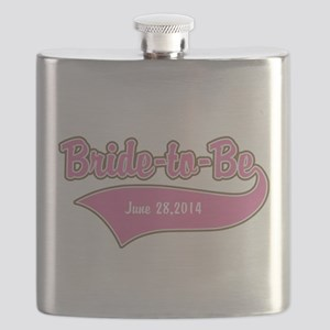 Bride-to-Be Custom Date Flask
