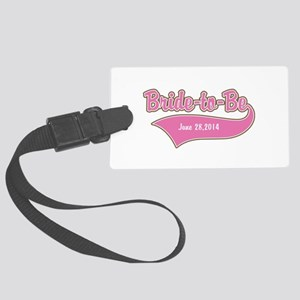 Bride-to-Be Custom Date Large Luggage Tag