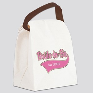 Bride-to-Be Custom Date Canvas Lunch Bag