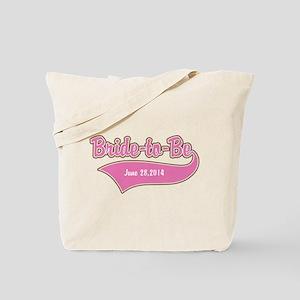 Bride-to-Be Custom Date Tote Bag