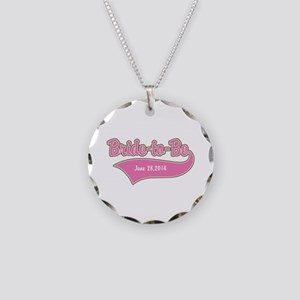 Bride-to-Be Custom Date Necklace Circle Charm