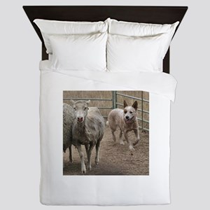 australian cattle dog herding Queen Duvet