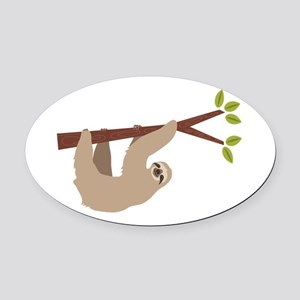 Sloth Oval Car Magnet