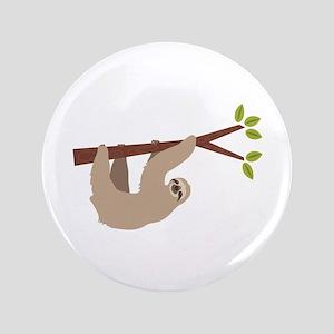 """Sloth 3.5"""" Button"""