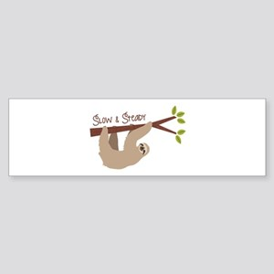Slow Steady Bumper Sticker