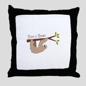 Slow Steady Throw Pillow